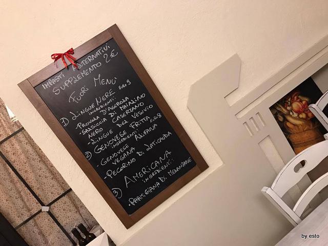 Casa Vitiello Lavagna menu