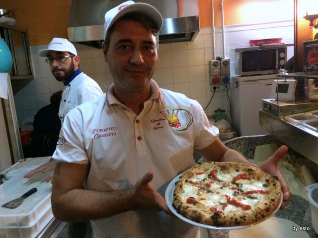 Checco Pizza Lecce. La taranta e un pezzo di napoletanita' pizza  ortolana