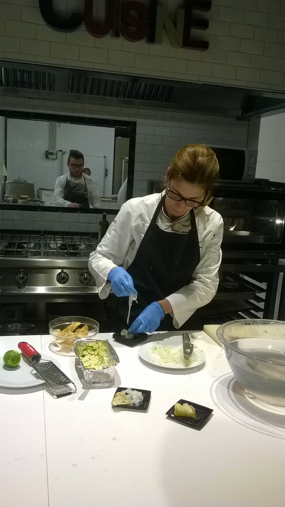 Chef Franca Feola al lavoro
