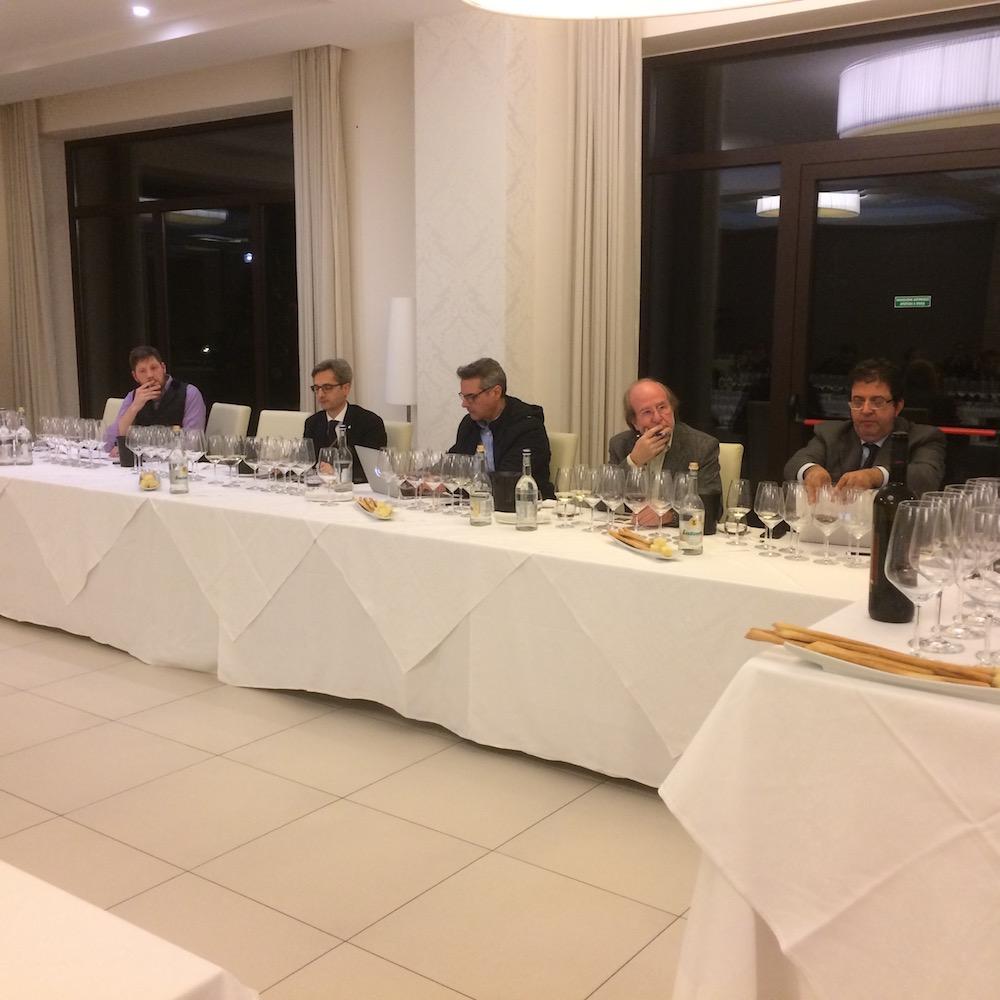 Commissione giornalisti da sinistra, Paul Caputo, Daniele Scapicchio, Andrea De Palma, Gigi Brozzoni, Luciano Pignataro