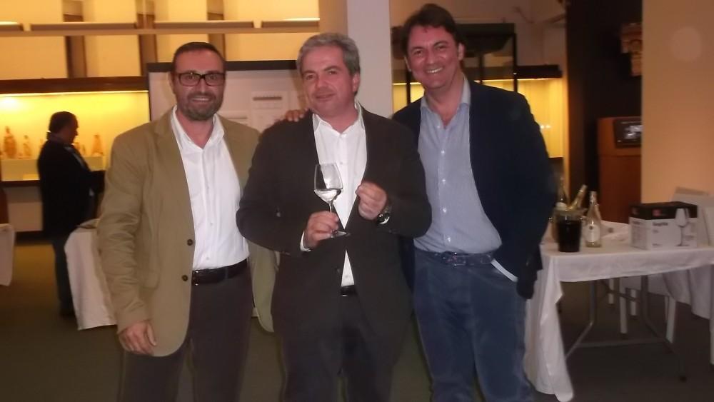 Da sx Alfonso Rotolo, Luigi Maffini e Paolo Verrone