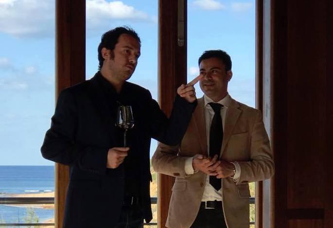Daniele Manca (enologo) e Gianluigi Minnai (direttore commerciale)