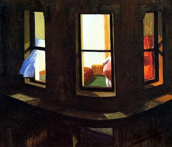 E. Hopper, Night windows