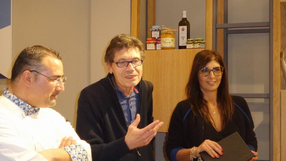 Gianfranco Iervolino con Luigi Cremona e Brunella Cimadomo