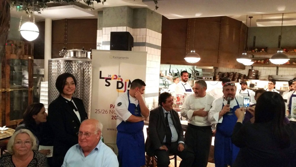 Gli chef con Luciano Pignataro e Barbara Guerra
