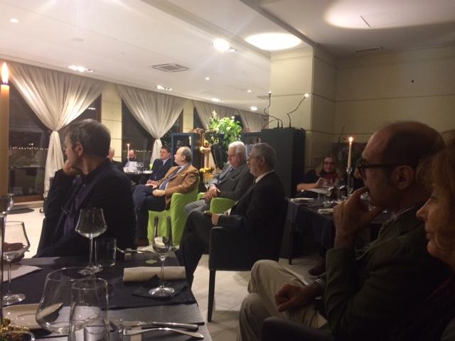 I giornalisti intervenuti al Grand Hotel Ritz a Roma per il rapporto annuale di Federdoc