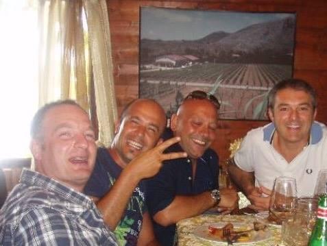 Ivan Pavia con Gerardo Vernazzzaro, Antonio Pesce e Massimo Di Renzo