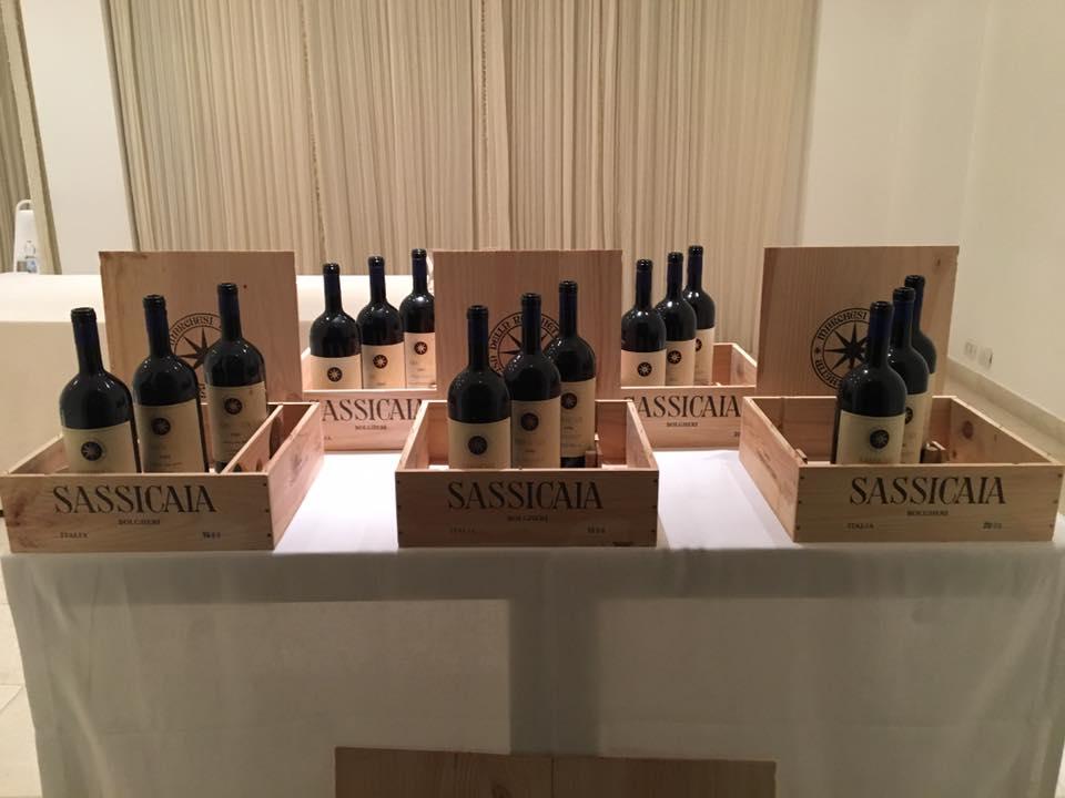 Le 5 annate pronte per la degustazione, Sassicaia