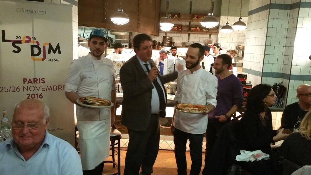 Lello Sorrentino e Matteo Caprioli con Luciano Pignataro