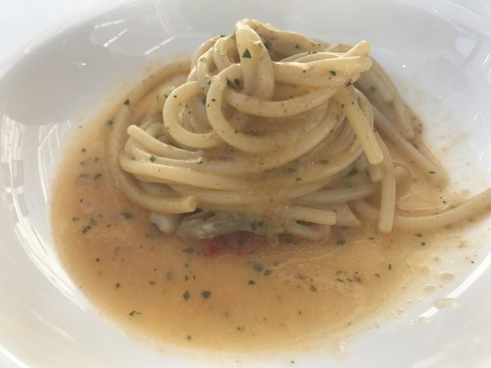 Nalbero, Ristorante - Spaghettone con i ricci