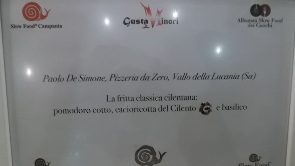 Pizzeria da Zero Premio da parte di Slow Food