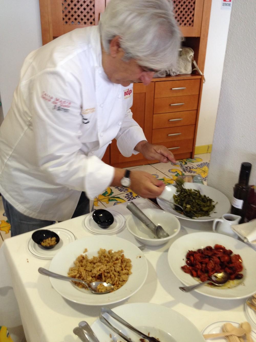 Premio gastronomico Ezio Falcone, Crivella all opera