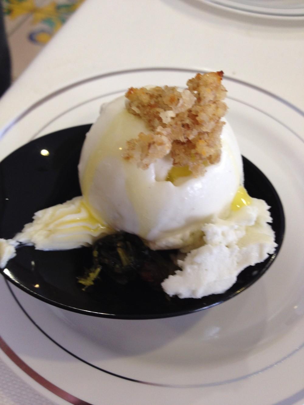 Premio gastronomico Ezio Falcone, gelato di Crivella con broccoli