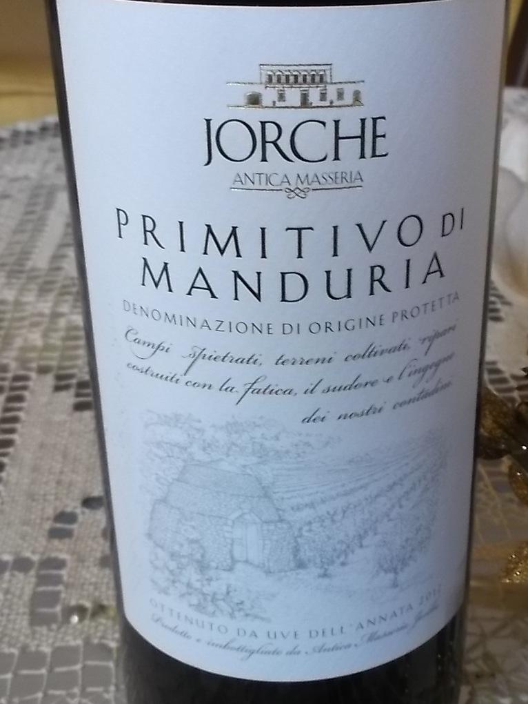 Primitivo di Manduria Dop 2012 Antica Masseria Jorche