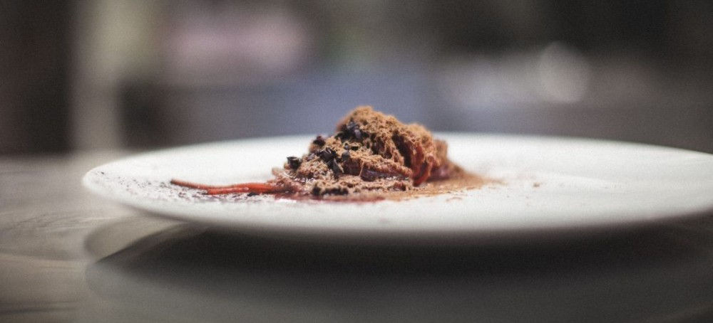 Spaghetti alle Vinacce e Fegati di Colombaccio