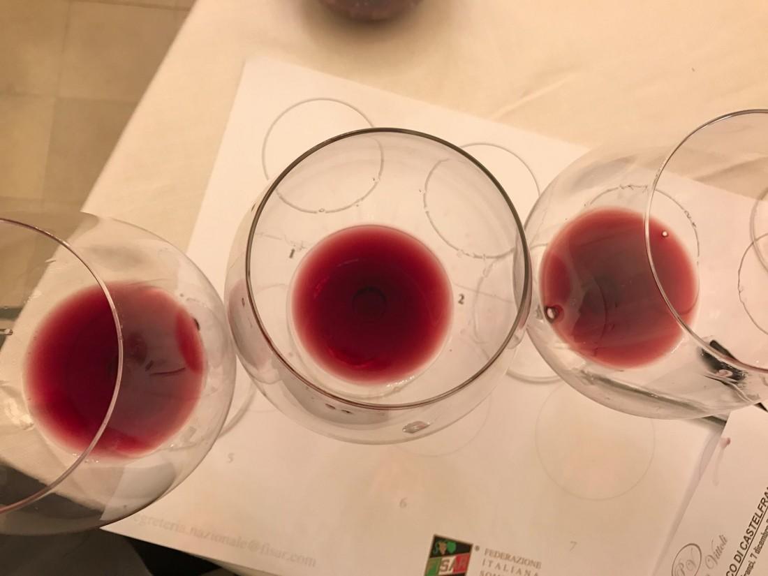 I tre Taurasi in degustazione a Castelfranci