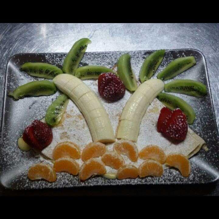 Ylas, frutta artistica