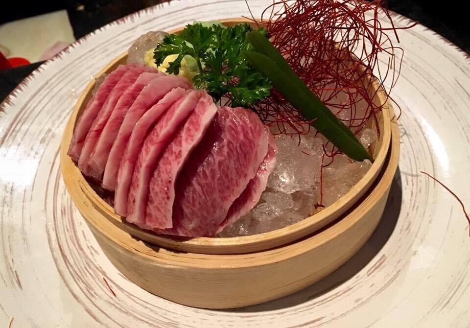 Nero Sushi Japanese, Sashimi di Ventresca di Tonno - Otoro