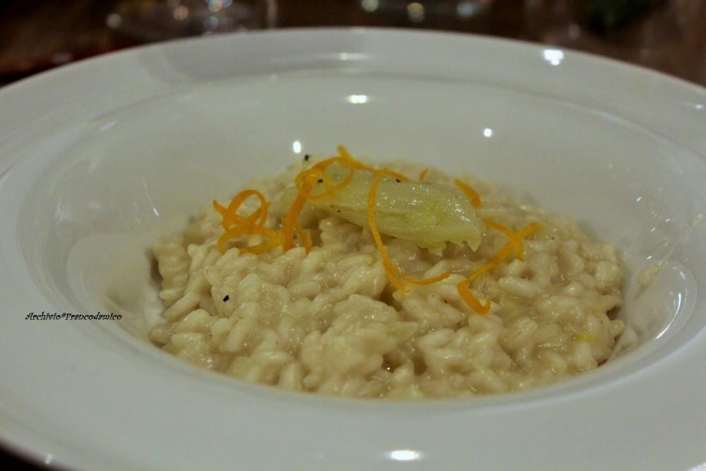 Bistrot 26, risotto mantecato con mascarpone di bufala, finocchi e scorzette di arancia