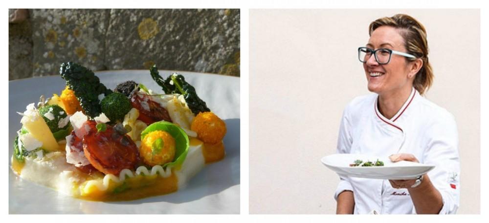 Formaggio caprino dell'Azienda Agricola Santa Margherita per il piatto di Monika Filipinska