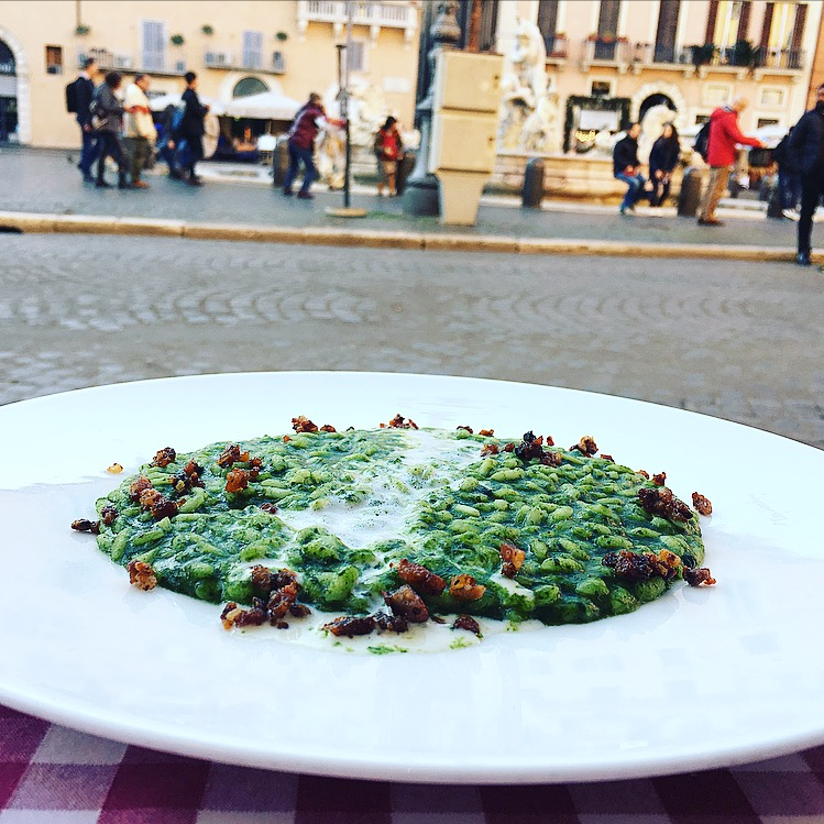 Piatto eseguito al Ristorante Tre Scalini, Piazza Navona - Roma