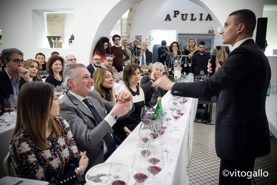 Giuseppe Cupertino durante il wine tasting