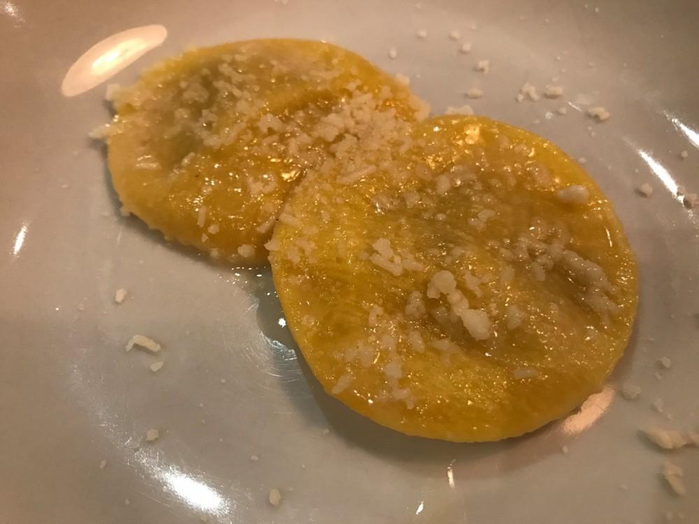 L'Arcangelo, Ravioli, cipollata e garum