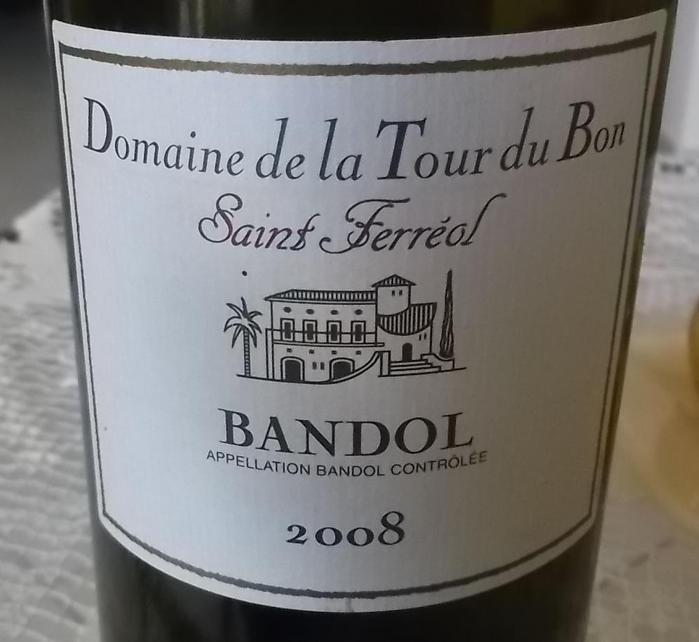 Bandol Rouge 2008 Domaine de la Tour du Bon