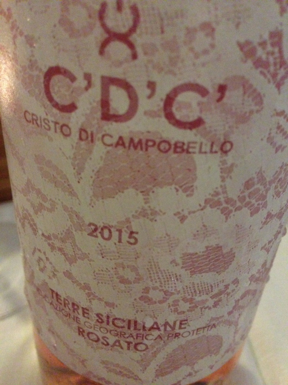 CDC Rosato 2015 Baglio Del Cristo di Campobello di Licata