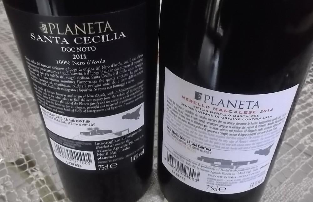 Controetichetta vini di Planeta vincitori a Radici del Sud 2016