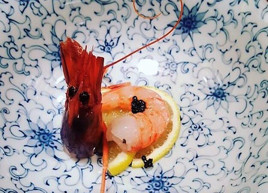 Japit, Crudo di Gambero Viola di Acciaroli, limone e caviale Oscietra