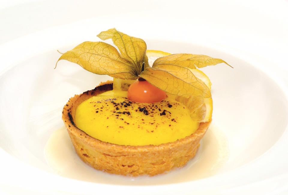 Gennaro Amitrano, crostata di cachi calda e vaniglia