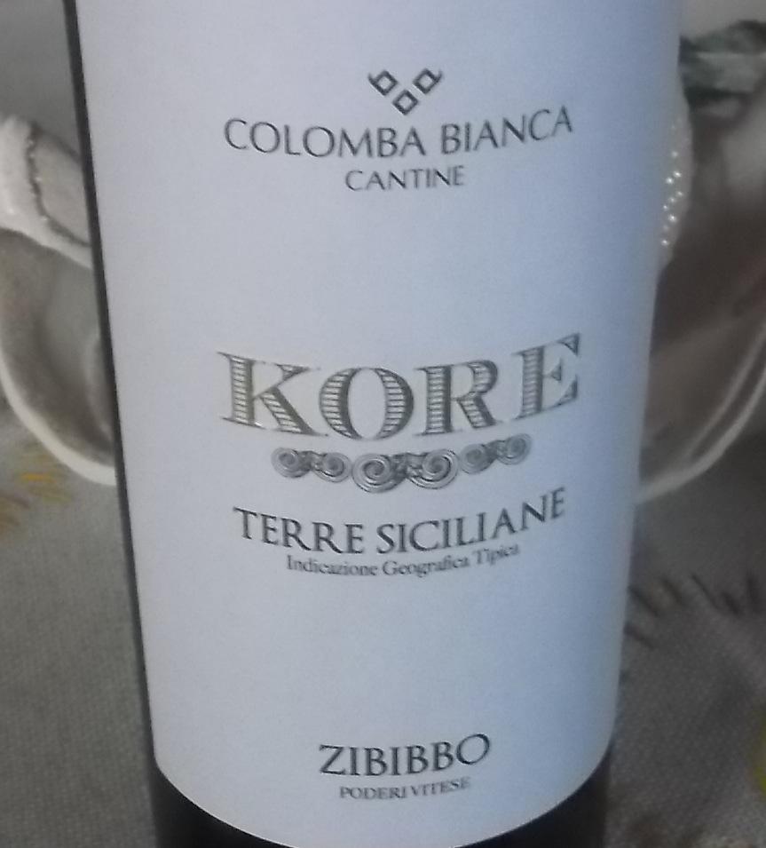 Kore Zibibbo Terre Siciliane Igt 2015 Colomba Bianca