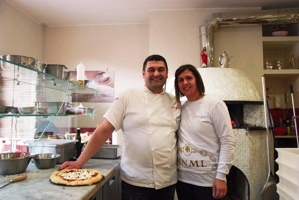 Luigi Cippiteli con la moglie Imma
