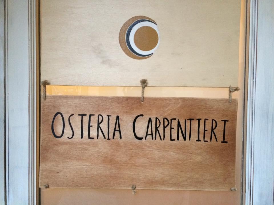 Osteria Carpentieri, insegna