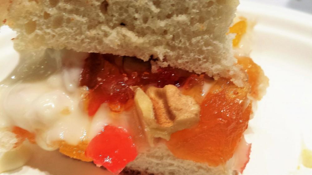 Pane gorgonzola noci e mostarda piccante