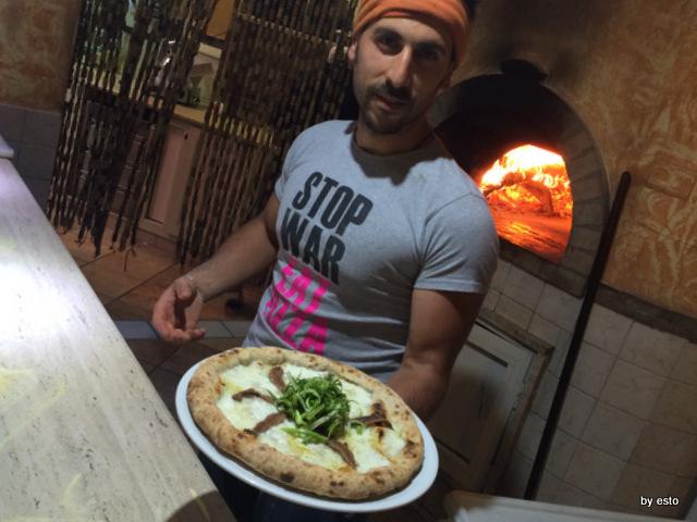 Picinisco Bellavista Emanuele De Vittoris  Pizza con puntarelle