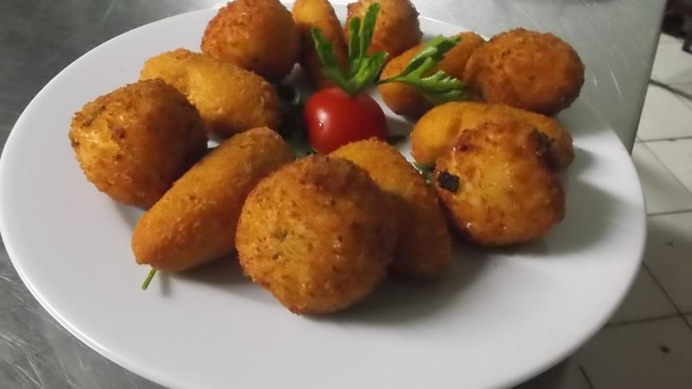Ristorante Le Macine, Panzarotti e palle di riso