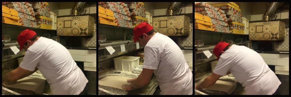 Salerosa, pizzaiolo al lavoro