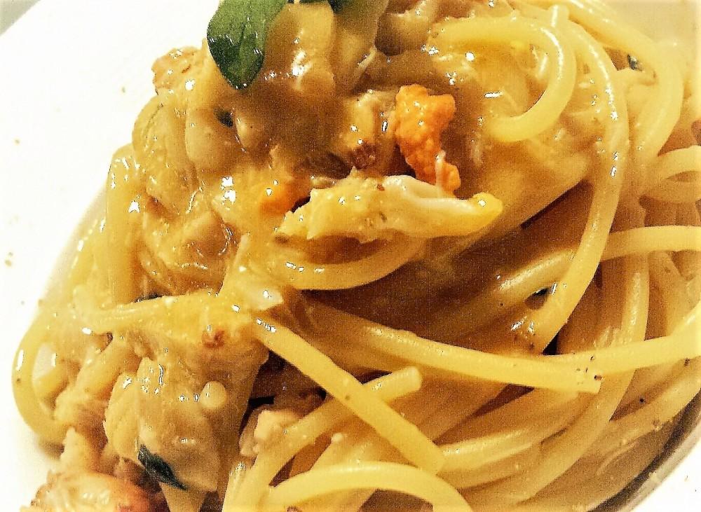 Spaghetti granciporro e lardo, Officine del Cibo