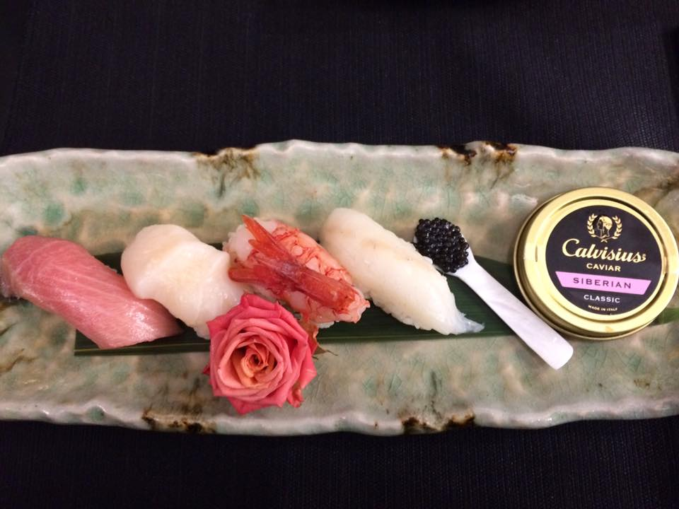 Zenbu. Nigiri Caviar Selection.