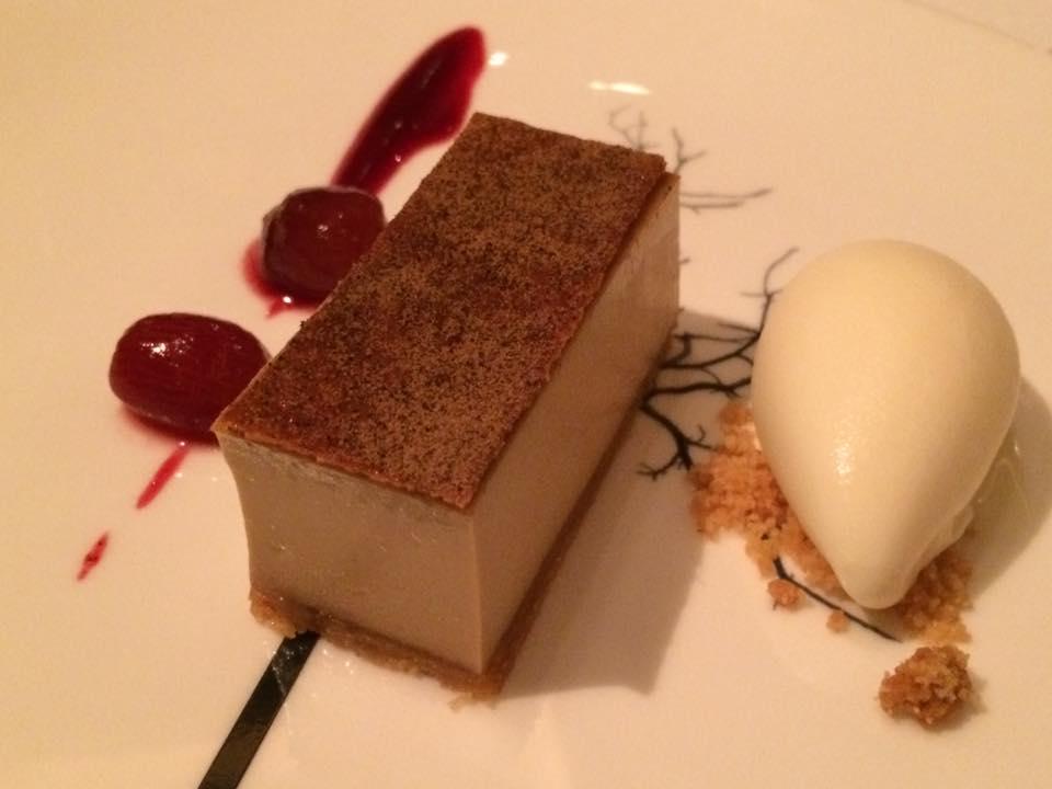 The Ledbury, tart con zucchero di canna e gelato allo zenzero