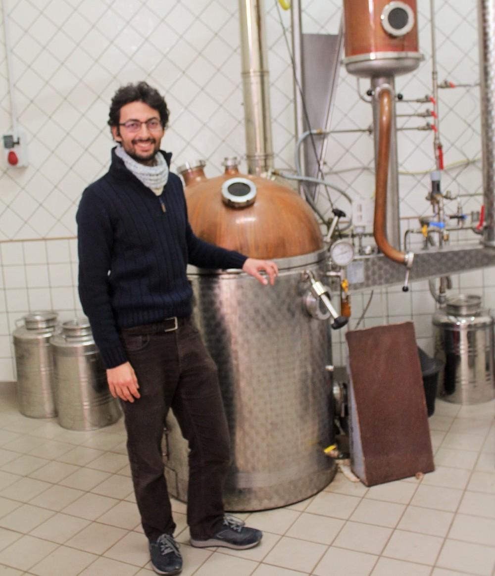 Berola', Distillati Antonio Di Mattia e l'alambicco Muller