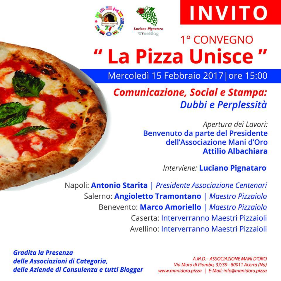 La convocazione dell'assemblea dei Pizzaioli dell'Associazione Mani d'Oro