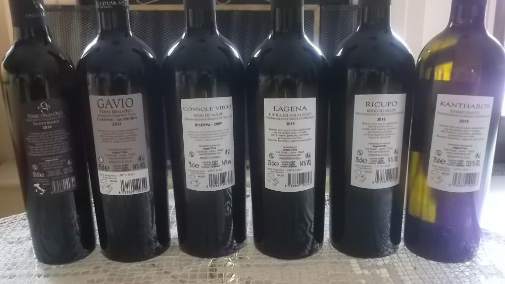 Controetichette Vini di Angelo D'uva