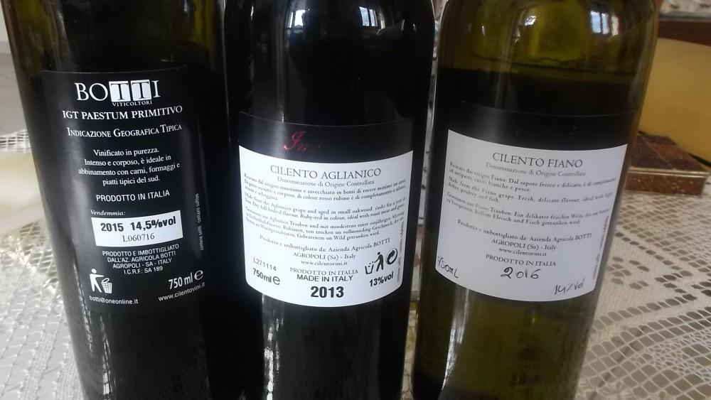 Controetichette vini di Carmine Botti