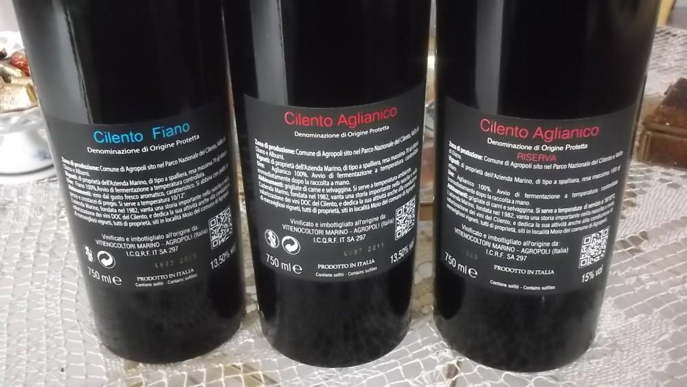 Controetichette vini di Raffaele Marino