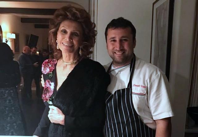 Daniele Uditi con Sophia Loren