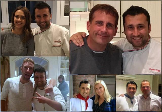 Daniele Uditi con le celebrities