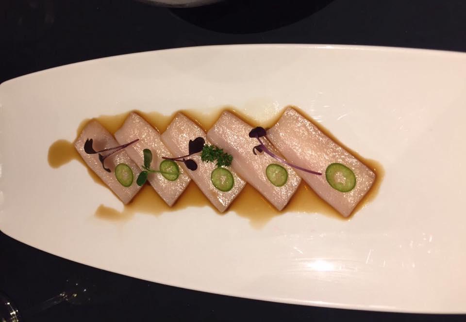 Shinto, Il Carpaccio, salsa ponzu e peperoncini Jalapeno
